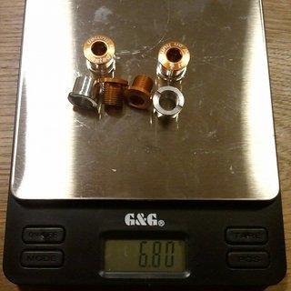 Gewicht Shaman Kettenblattschrauben Kettenblattschrauben M8x8mm, 4x