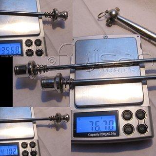 Gewicht TranzX Spannachse CrMo-Spannachsen 100mm, 135mm