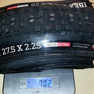 Gewicht Onza Reifen IBEX FR FRC120 27.5x2.25