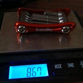 Gewicht Superstar Components Werkzeug 10 in 1 tool 10x1