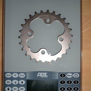Gewicht Shimano Kettenblatt XT FC-M771 64mm, 26Z