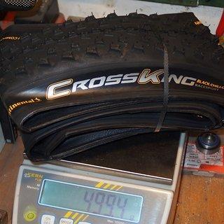Gewicht Continental Reifen cross king black chili race sport 26x2,2