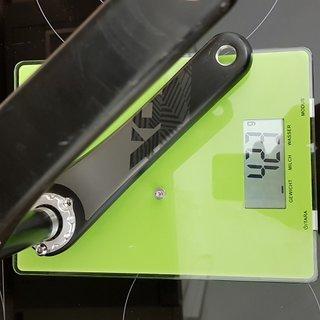Gewicht SRAM Kurbel X01 175mm, GXP
