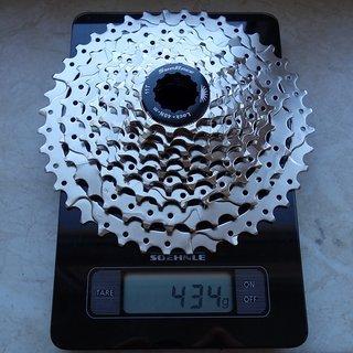 Gewicht Sunrace Kassette CSM990 9AX 11-40T, 9fach