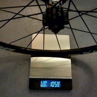 Gewicht Mavic Systemlaufräder Crossride Disc HR, 135mm/QR
