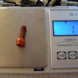 Gewicht Tuning Pedals Schrauben, Muttern konische Inbusschraube M5x15, Al
