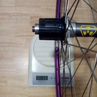"""Gewicht Nukeproof Systemlaufräder Ti Freehub - Sun Mistral - Ritchey Logic 26"""", HR, 135mm/QR"""