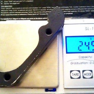 Gewicht Hayes Scheibenbremsadapter 98-15073 IS >>> PM +20