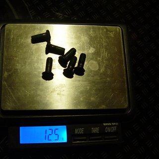 Gewicht Shimano Weiteres/Unsortiertes Bremsscheibenschrauben M5x10mm, 6x