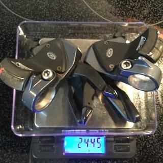 Gewicht Shimano Schalthebel LX SL-M570 3-/9-fach