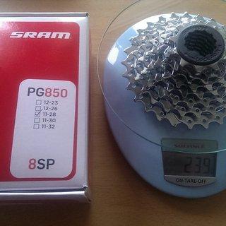 Gewicht SRAM Kassette PG-850 8-fach, 11-28Z