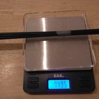Gewicht Sapim Speiche D-Light 290mm, 14 Stk.