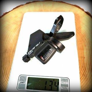 Gewicht Shimano Schalthebel Alivio SL-M430 9-fach
