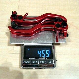 Gewicht Brake Force One Weiteres/Unsortiertes Bremshebel Aluminium 2-Finger rot