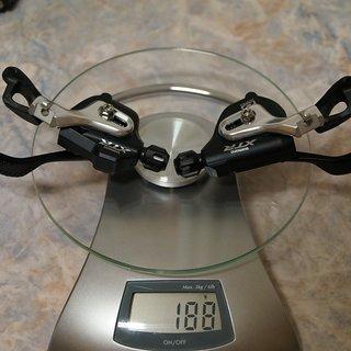 Gewicht Shimano Schalthebel XTR SL-M980 I-Spec 2/3x10-fach