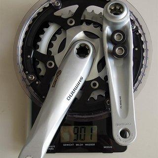 Gewicht Shimano Kurbelgarnitur Deore FC-M442/443 175mm, 26/36/48Z