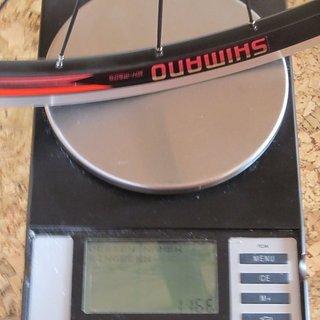 """Gewicht Shimano Systemlaufräder WH-M505 26"""", HR: 135mm/QR"""