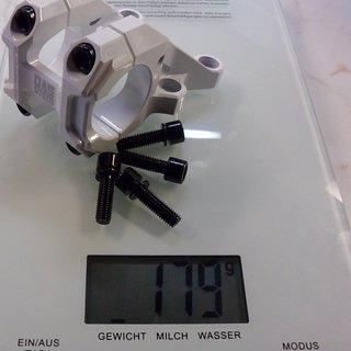 Gewicht Blackspire Vorbau DAS Stem 0° Rise 31.8mm, 45mm, 0°
