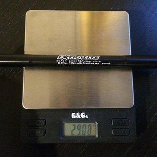 Gewicht Extralite Achse Black Lock 12.1  142x12mm