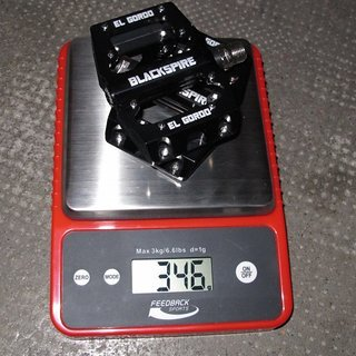 Gewicht Blackspire Pedale (Platform) El Gordo 92x74x17mm