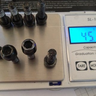 Gewicht Avid Schrauben, Muttern konische Inbusschraube M6x20, Stahl