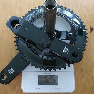 Gewicht Shimano Kurbelgarnitur Dura Ace R9100 52/36 172,5mm