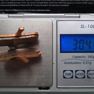 Gewicht Clarks Bremsbelag VRX834C Sintered Code vor 2010