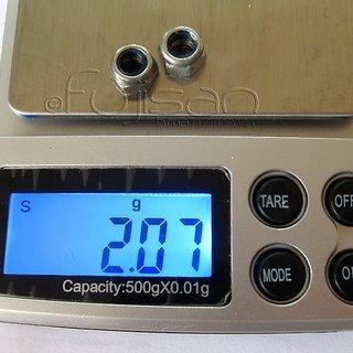 Gewicht No-Name Schrauben, Muttern Stoppmutter M5, Stahl