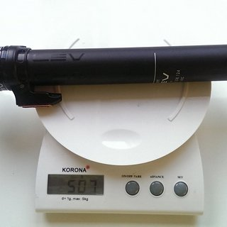 Gewicht Kind Shock Sattelstütze höhenverstellbar Lev Ti 150 mm 31,6 mm