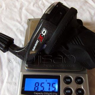 Gewicht SRAM Drehschaltgriff X0 3-fach