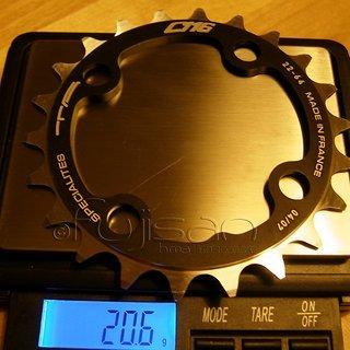 Gewicht Specialites TA Kettenblatt C116 64mm, 22Z