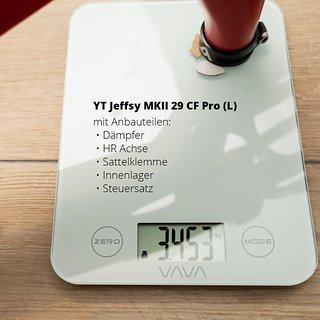Gewicht Young Talent Full-Suspension YT Jeffsy MK II 29 CF Pro L