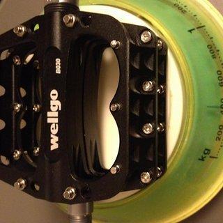 Gewicht Wellgo Pedale (Platform) B030 109.5x100x21.9mm