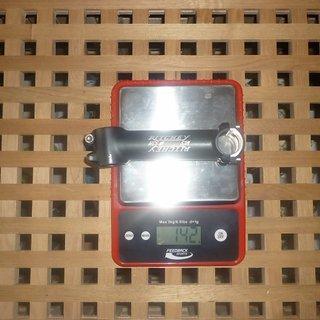 Gewicht Ritchey Vorbau WCS 25.4mm, 130mm, 6°