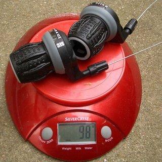 Gewicht Fun Works Drehschaltgriff SEC S-Light 2/3x10-fach
