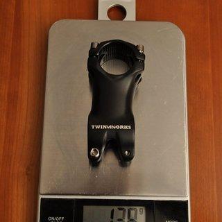 Gewicht Alutech Vorbau TwinWorks 2832 31.8mm, 65mm, 10°