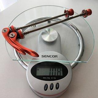 Gewicht Motsuv Schnellspanner Alu CNC 100mm, 135mm