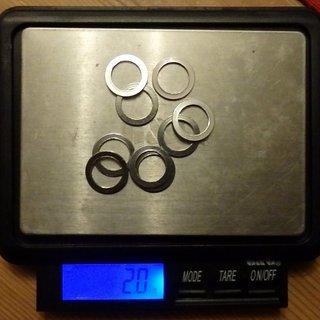 Gewicht No-Name Schrauben, Muttern Unterlegscheibe M10x1.2mm (non-DIN), Al