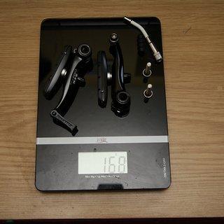 Gewicht Tektro Felgenbremse RX5 85mm