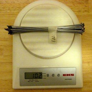 Gewicht Sapim Speiche Laser 183mm, 32 Stück