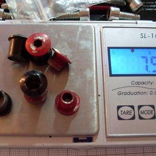 Gewicht Gamut Kettenblattschrauben Kettenblattschrauben M8x10mm, 4x