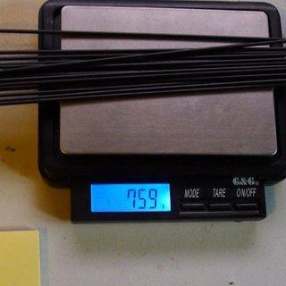 Gewicht Sapim Speiche D-Light 256mm, 16 Stück