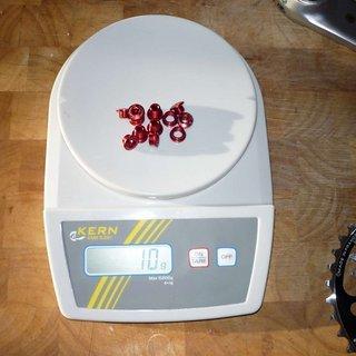 Gewicht Carbon Ti Kettenblattschrauben X-Fix MTB XS