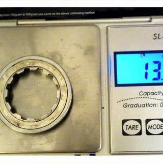 Gewicht Shimano Kassettenabschlussring XT CS-M750 11Z
