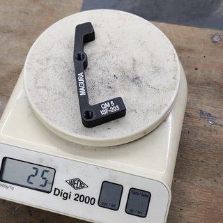 Gewicht Magura Scheibenbremsadapter Adapter QM-5 IS >>> PM +43