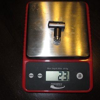 Gewicht Topeak Werkzeug AirBooster 4,4 x 3,7 x 1,5 cm
