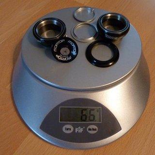 Gewicht Mortop Steuersatz HS-65 EC34/28.6, EC34/30