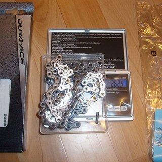 Gewicht Shimano Kette CN-7901 114 Glieder, 10-fach