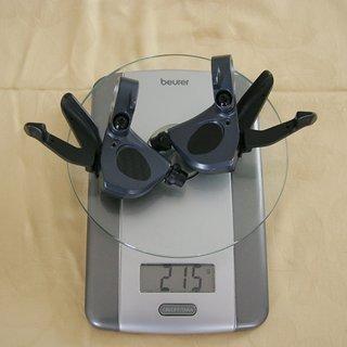Gewicht Shimano Schalthebel LX SL-M570 (tuned) 3x9