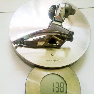 Gewicht Shimano Umwerfer XT FD-M751 34,9mm